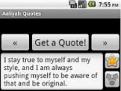 Aaliyah Quotes 1.0 Screenshot
