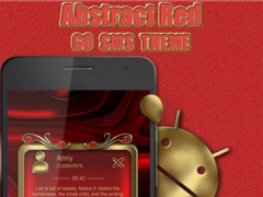 Abctract Red Go SMS Pro theme 2 Screenshot
