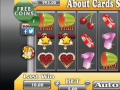 About Cards Slots - 3 Games in 1! Slots, Blackjack & Roulette 1.0 Screenshot