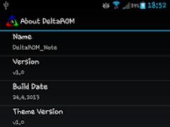 About DeltaROM 1.2 Screenshot