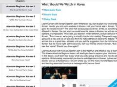 Absolute Beginner Korean for iPad 1.3 Screenshot