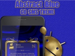 Abstract Blue Go SMS Pro theme 2 Screenshot