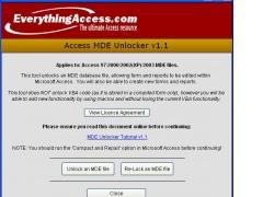 Access MDE Unlocker 3.20 Screenshot
