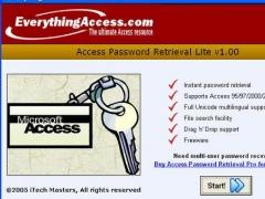 Access Password Retrieval LITE 1.1 Screenshot