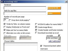 access2asp 4.4 Screenshot
