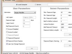 Accounts Tuner 1.00a Screenshot