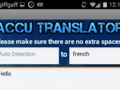 Accu Translator 4.7 Screenshot
