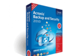 Acronis Backup and Security 2011 Screenshot
