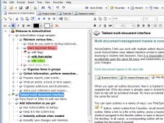 ActionOutline Lite 3.4 Screenshot