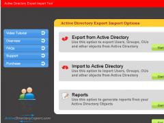 Active Directory Export 3.0 Screenshot