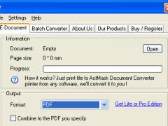 ActMask Document Converter CE 3.391 Screenshot
