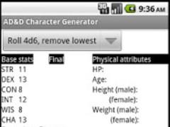 AD&D Character Generator 1.0 Screenshot