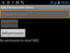 Add Permissions Demo 2.1 Screenshot