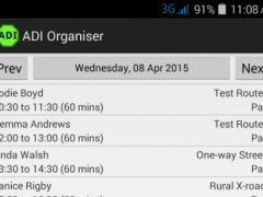ADI Organiser 1.10 Screenshot