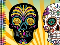 Adult Coloring Book Sugar Skull 1.0 Screenshot