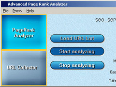 Advanced Page Rank Analyzer 2.0 Screenshot