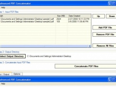 Advanced PDF Concatenator 1.11 Screenshot