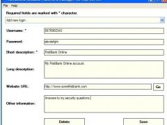 Advanced Rel Password Manager SQL Server 1.6 Screenshot