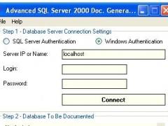 Advanced SQL Server 2000 Doc Generator 1.8 Screenshot