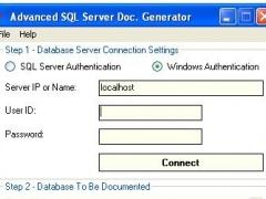 Adv SQL Server Documentation Generator 1.10 Screenshot