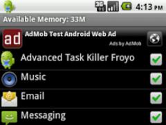 Advanced Task Killer Froyo 1.1.9B Screenshot