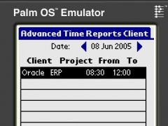 Advanced Time Reports Palm 8.0.57 Screenshot