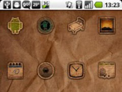 ADW Rustik Theme 1.5 Screenshot