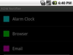 ADWNotifier  Screenshot