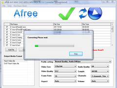 Afree AVI WMV DVD MPEG to FLV Converter 8.0 Screenshot