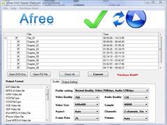 Afree DVD Ripper Platinum 8.0 Screenshot