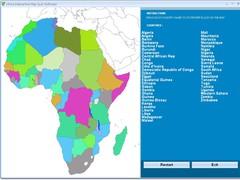 Africa Interactive Map Quiz Software 7.0 Screenshot