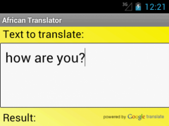 African Translator Dictionary 2.4 Screenshot