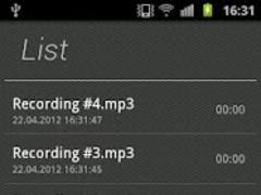 Agila Voice Recorder 1.2 Screenshot