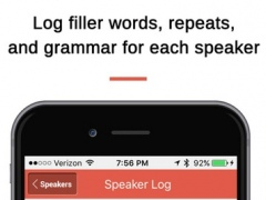 Ah Counter Grammarian App - Overused words and filler sounds log for Toastmasters International and public speaking meetings 1.1 Screenshot