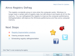 Ainvo Registry Defrag 4.1.7.2010 Screenshot