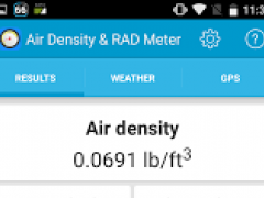 Air Density & RAD Meter 2.4 Screenshot