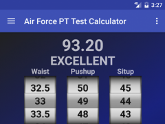 Air Force PT Test Calculator Free Download