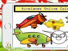 Aircraft and Plane Coloring Book - FREE App for Toddlers Childen or Educational Game for Preschool 1.0.3 Screenshot