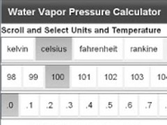 AJ Water Vapor Pressure 1.0.0 Screenshot