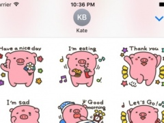 Aki The Pig Stickers for iMessage 1.0 Screenshot