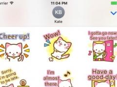 Ako The Pink White Kitty Stickers 1.0 Screenshot