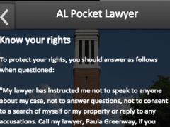 AL Pocket Lawyer 2.0 Screenshot