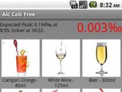 Alc Calc Free 1.2.1 Screenshot