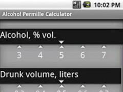 Alcohol Permille Calculator 1.3.1 Screenshot