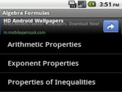 Algebra Formulas 1.0.3 Screenshot