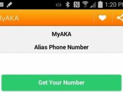 Alias Phone Number 5.1 Screenshot