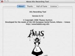Alis Recording Tool 0.7.0 Screenshot