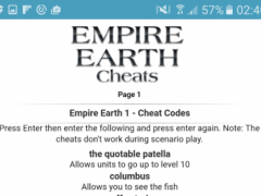 All <b>Empire Earth Cheat Codes</b> 1.1 Free Download