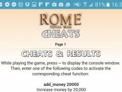 All <b>Rome Total War Cheat Codes</b> 1.2 Free Download