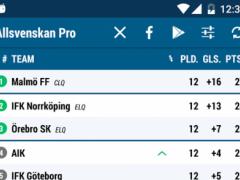Allsvenskan Pro 2.97.0 Screenshot